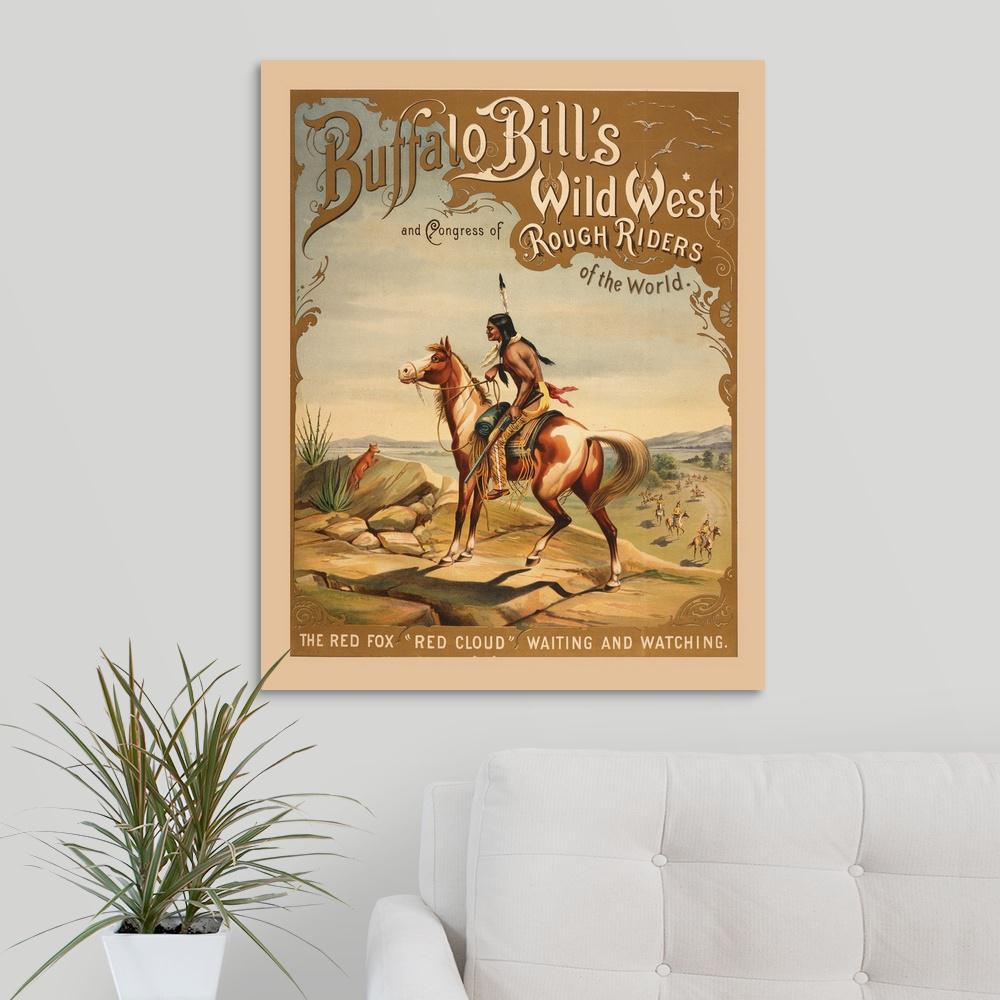 Buffalo Bill Queen Victoria billboard Vintage Art Prints, Signs, Canvas, More