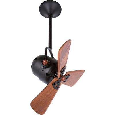 Bianca Direcional 16 in. Indoor/Outdoor Matte Black Ceiling Fan with Wall Control