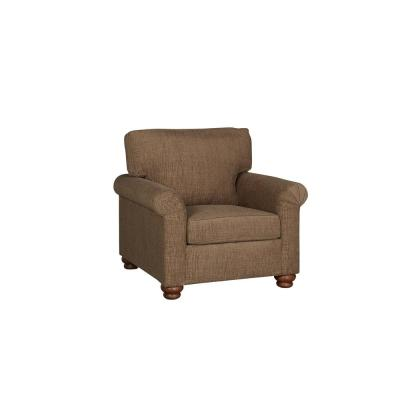 Aubrey Mocha Brown Upholstered Arm Chair