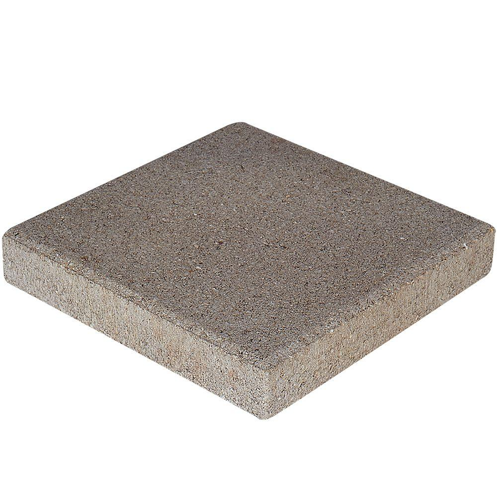 12 In. X 12 In. X 1.5 In. Pewter Square Concrete Step Stone 71200   The  Home Depot