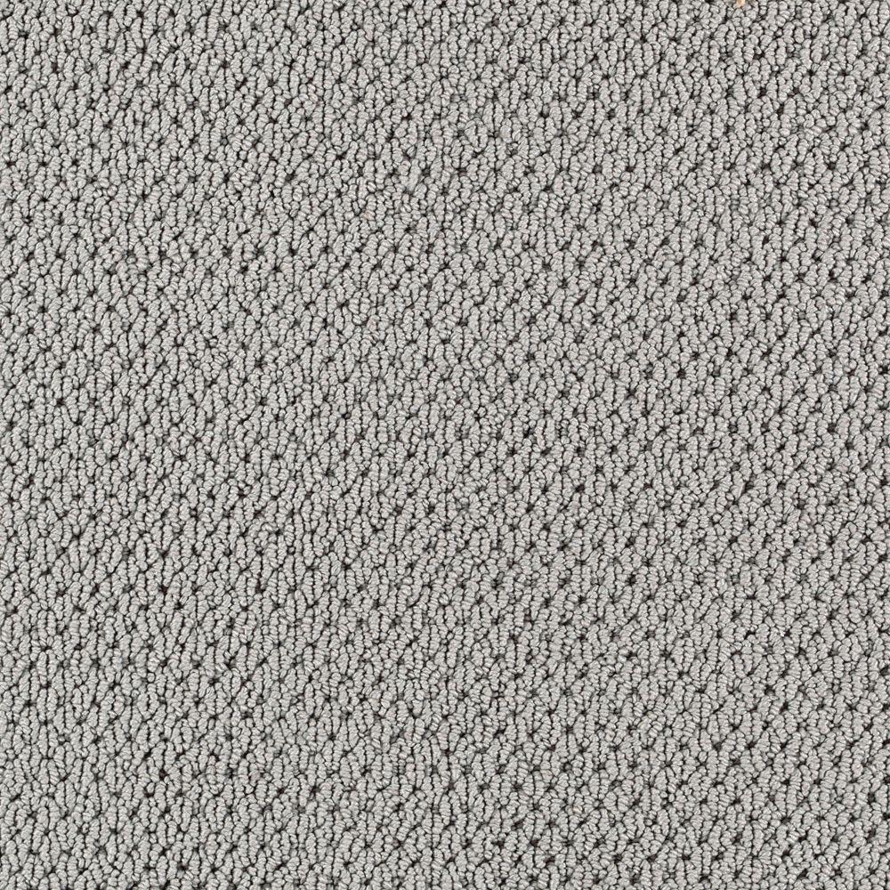 Carpet Sample - Finish Line - Color Steel Grey Loop 8 in. x 8 in.