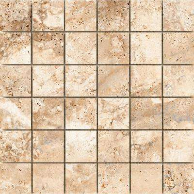 Cabo Coast 12.99 in. x 13.03 in. x 9mm Ceramic Mesh-Mounted Mosaic Tile