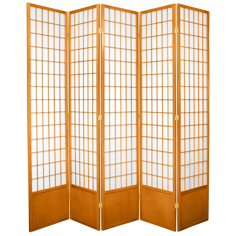7 ft. Honey 5-Panel Room Divider