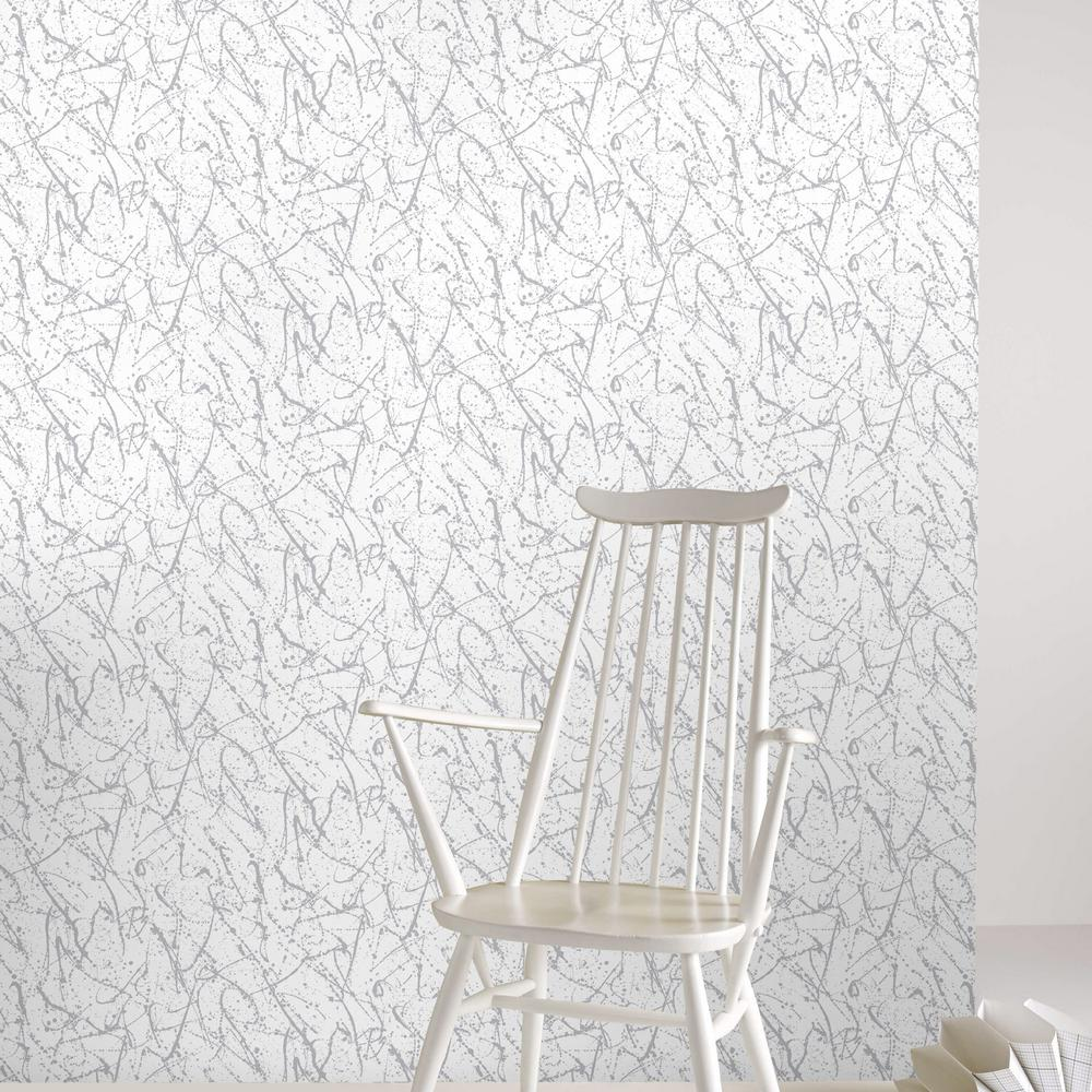 Graham and brown silver splatter removable wallpaper for Metallic removable wallpaper