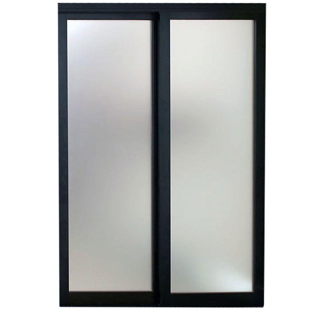 Contractors Wardrobe 96 In. X 81 In. Eclipse Mystique Glass Bronze Finish  Aluminum Interior