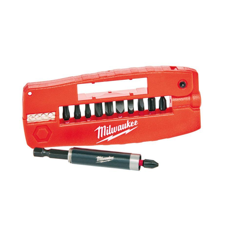 Milwaukee Impact Driver Drill Magnetic Guide Bit Set 12 Piece Bits ECX Philips