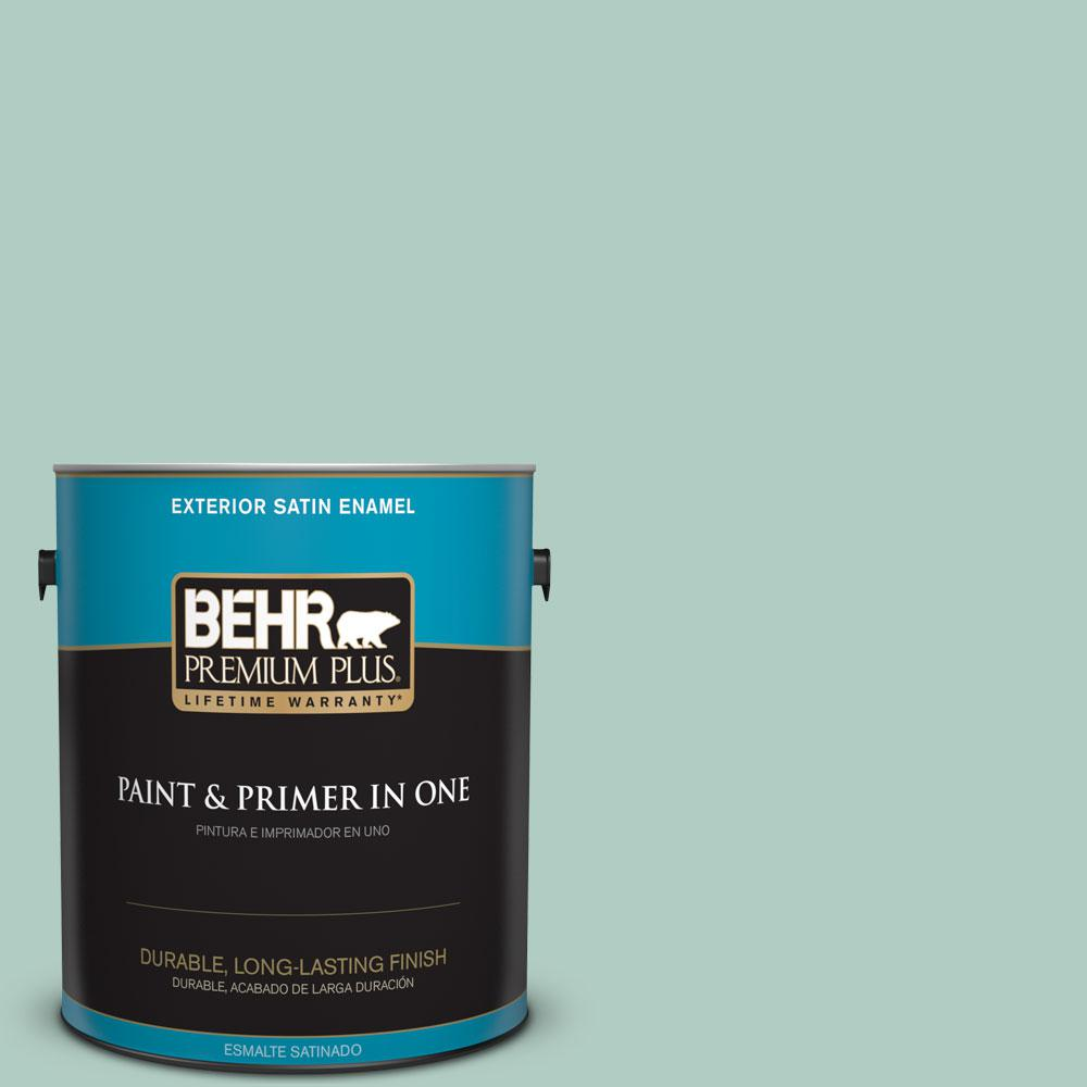 BEHR Premium Plus 1-gal. #M430-3 Wintergreen Dream Satin Enamel Exterior Paint