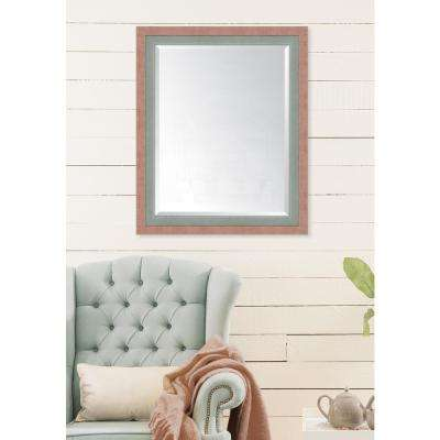 28 in. x 34 in. Framed Autumn Spice and Slate Mirror