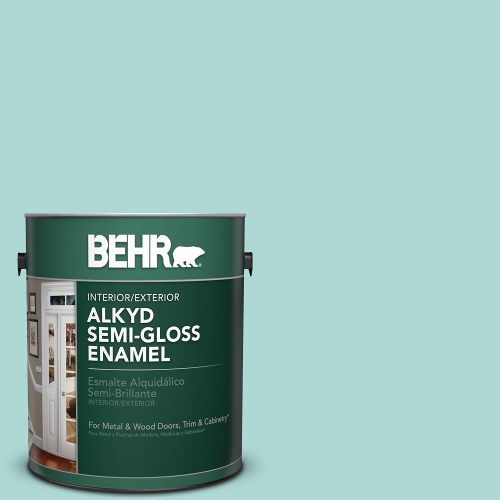 1 gal. #M450-3 Wave Top Semi-Gloss Enamel Alkyd Interior/Exterior Paint