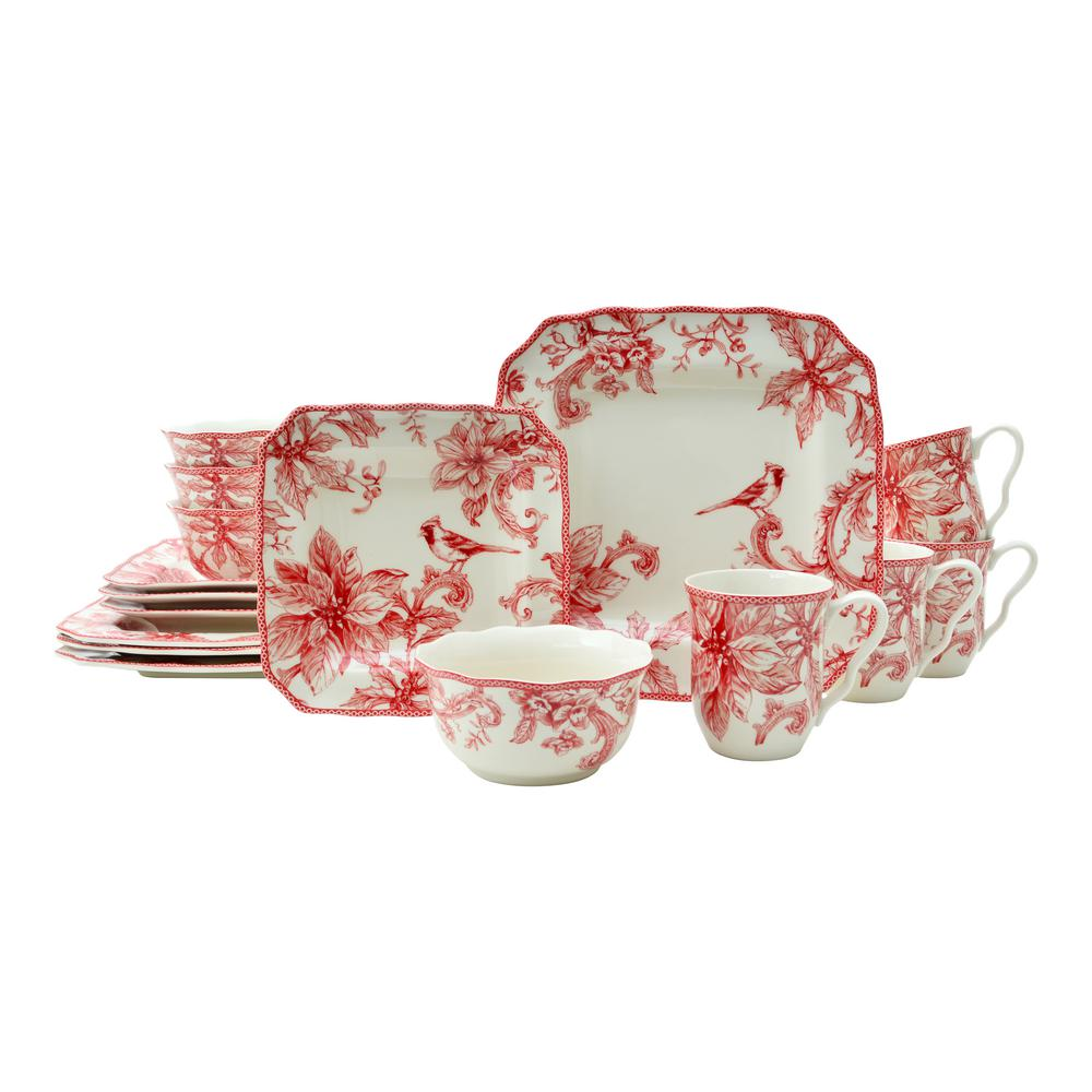 Christmas Lane 16-Piece Dinnerware Set