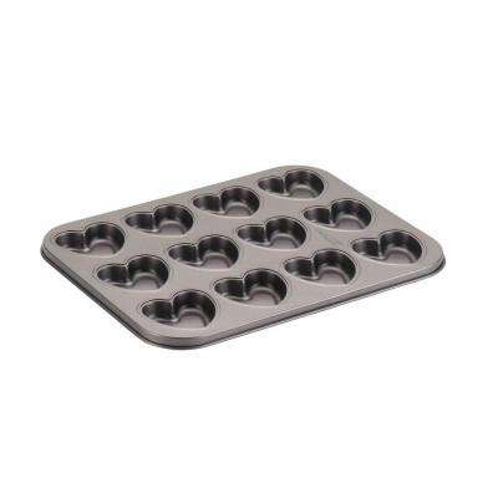 Novelty Nonstick Bakeware 12-Cup Heart Cookie Pan