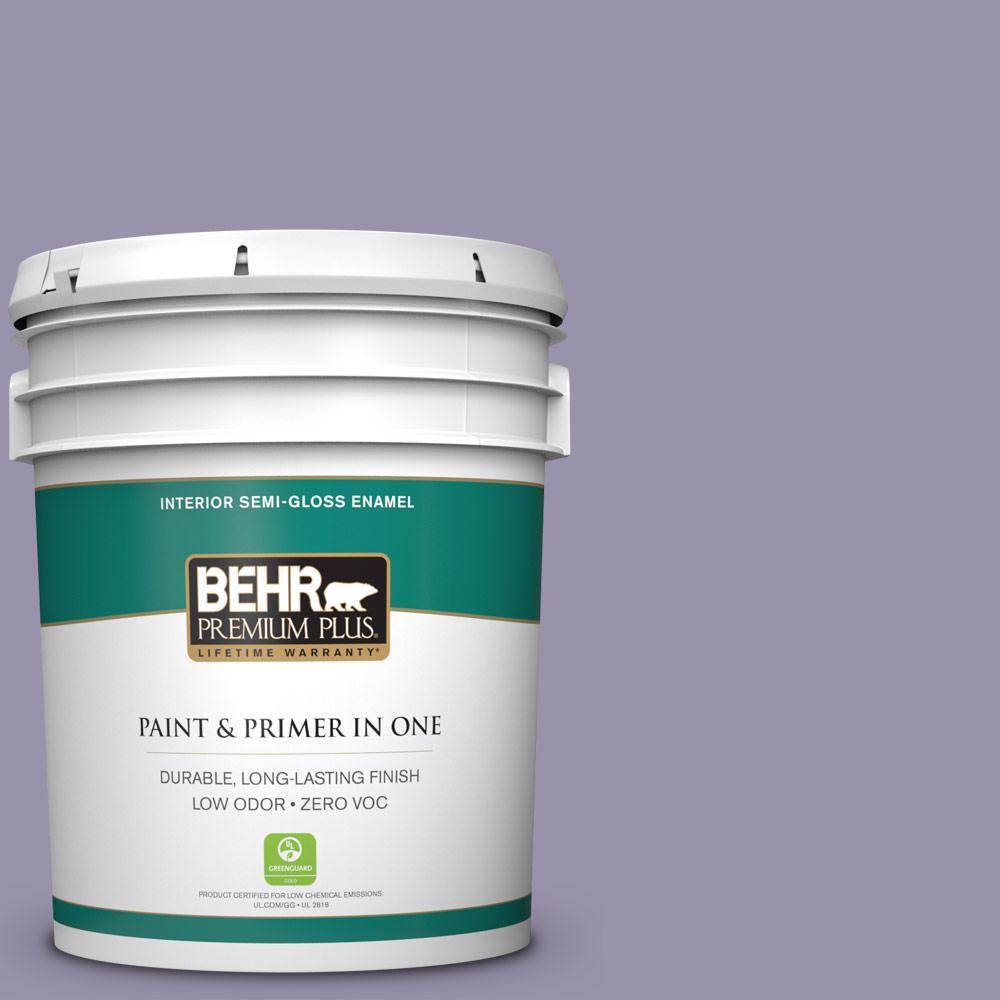 BEHR Premium Plus 5-gal. #650F-4 Delectable Zero VOC Semi-Gloss Enamel Interior Paint