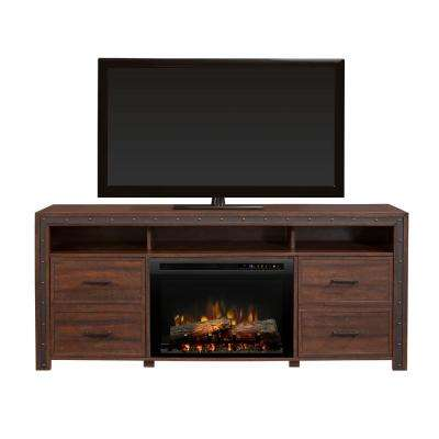 Thom 66 in. Freestanding Electric Fireplace TV Stand Media Console in Grainery Brown