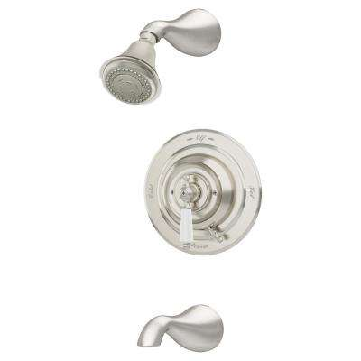 Carrington 1-Handle Tub/Shower Trim Kit in Satin Nickel (Valve Not Included)