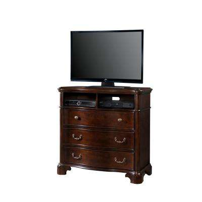 Tomlyn Dark Cherry 3-Drawer Media Chest