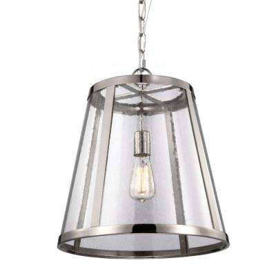 Harrow 1-Light Polished Nickel Pendant
