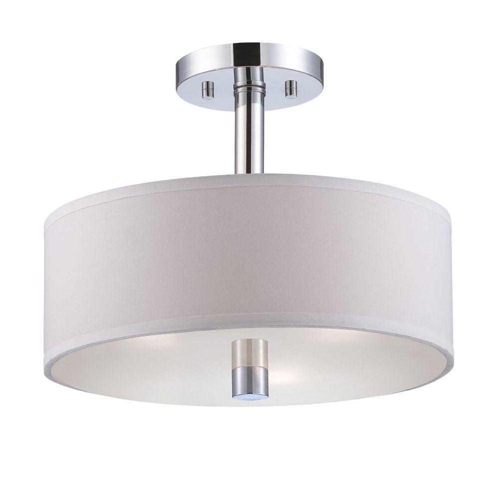 Cordova 3-Light Chrome Interior Incandescent Semi Flush Mount