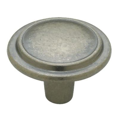 Top Ring Round 1-1/4 in. (32mm) Antique Iron Cabinet Knob