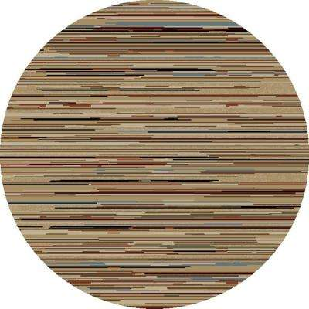Jewel Striation Stripes Multi 5 ft. Round Area Rug