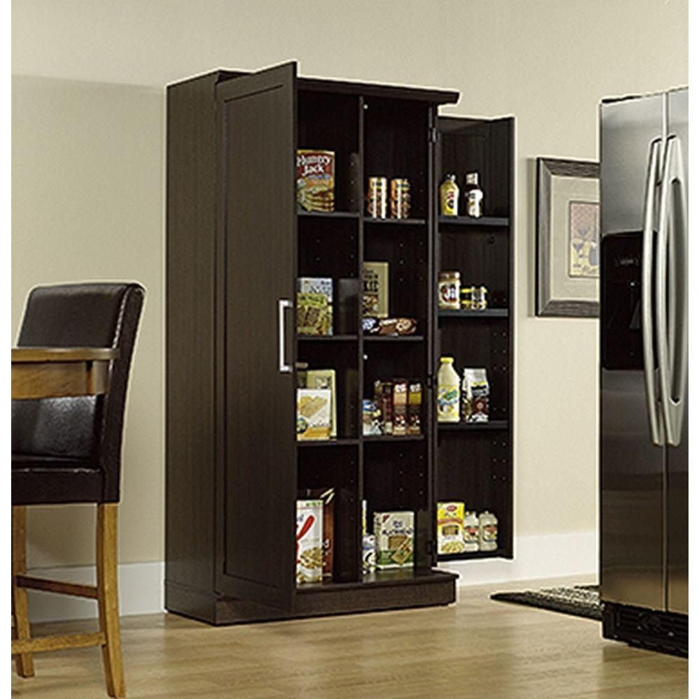 Sauder Home Plus Dakota Oak Storage Cabinet 411572 The Home Depot