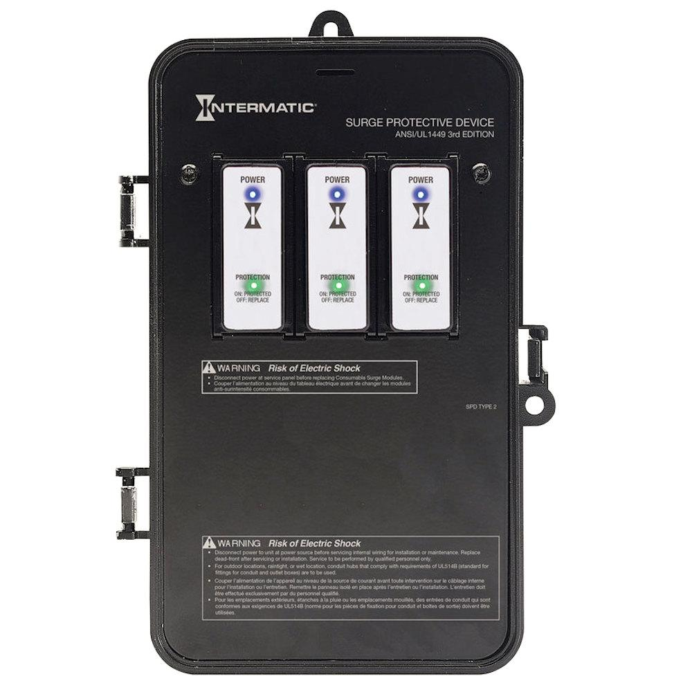Intermatic Whole Home Surge Protector Kit 50000-Amps LED Light Indicator Plastic