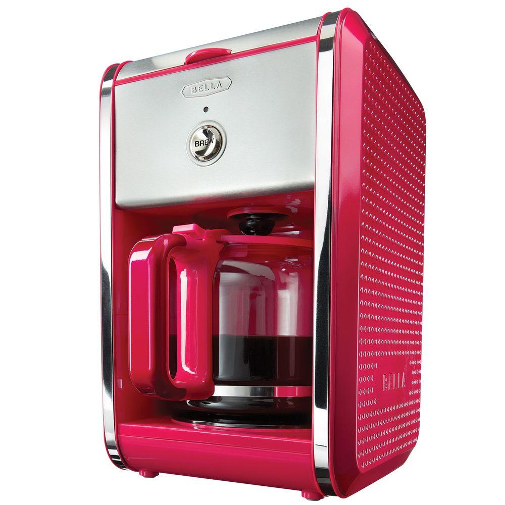 Bella Dots 12-Cup Switch Coffee Maker in Pink