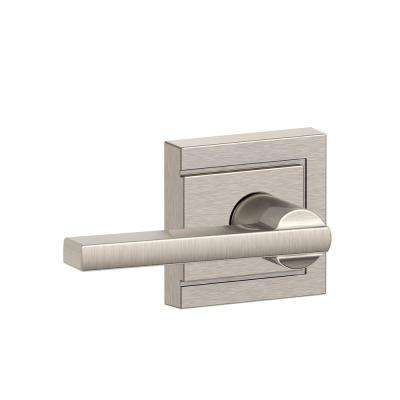 Latitude Series Satin Nickel Hall and Closet Door Lever with Upland Trim