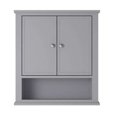 Queensbury 22 in. W Wall Cabinet in Grey