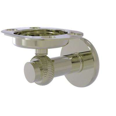 Mercury Collection Tumbler and Toothbrush Holder with Twisted Accents in Polished Nickel