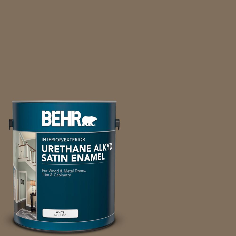 Reviews For Behr 1 Gal Ppu5 04 Mocha Latte Urethane Alkyd Satin Enamel Interior Exterior Paint 793001 The Home Depot