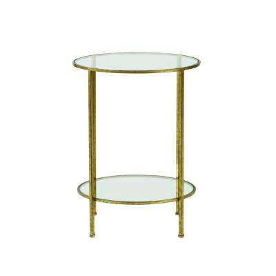 Bella Aged Gold Gl Top End Table