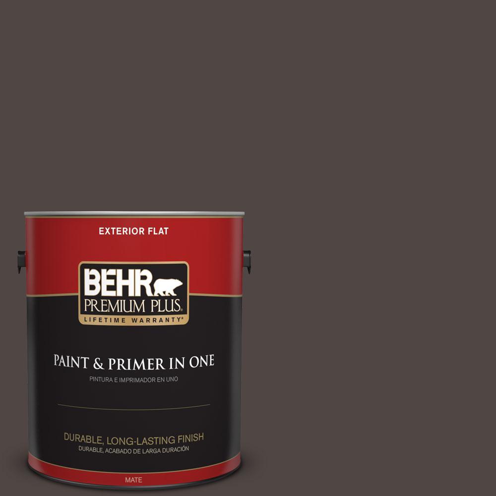 BEHR Premium Plus 1-gal. #T12-13 Tribal Drum Flat Exterior Paint