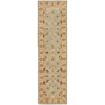 Heritage Light Blue/Beige 2 ft. x 18 ft. Runner Rug