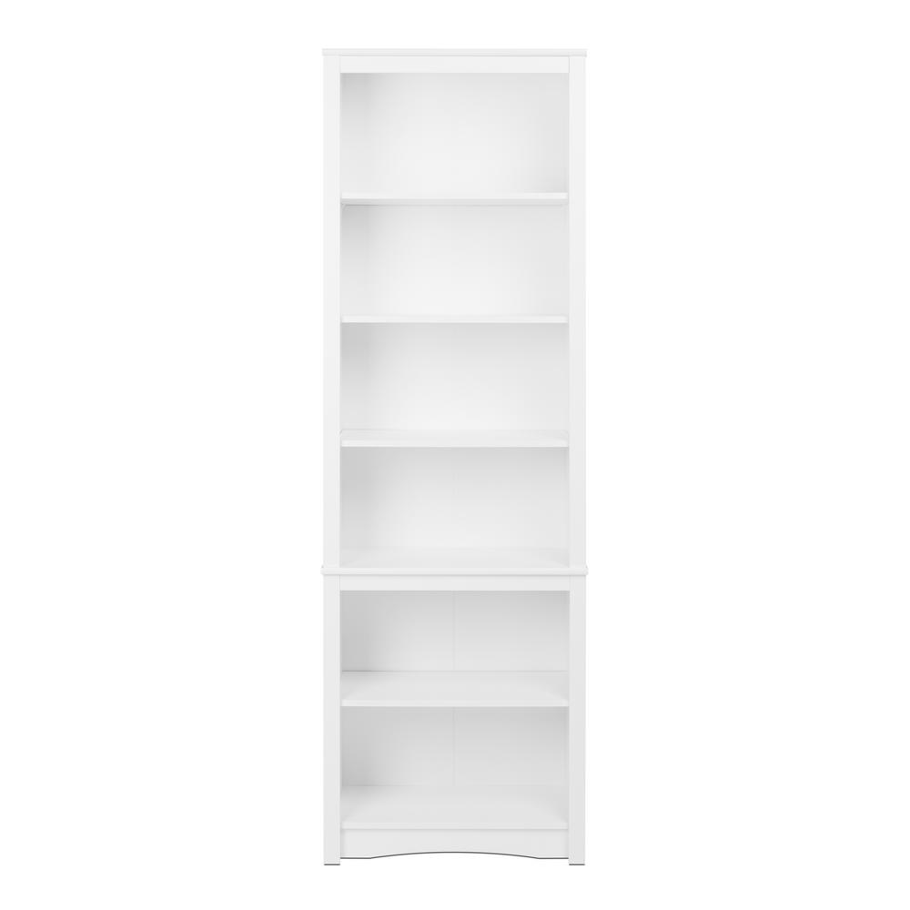 Prepac White Tall Bookcase Wsbh 0003 1 The Home Depot