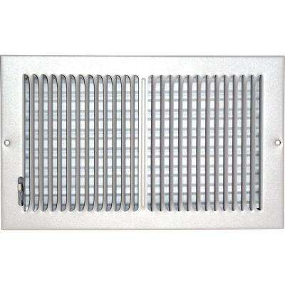 8 in. x 14 in. Ceiling/Sidewall Vent Register, White with 2-Way Deflection