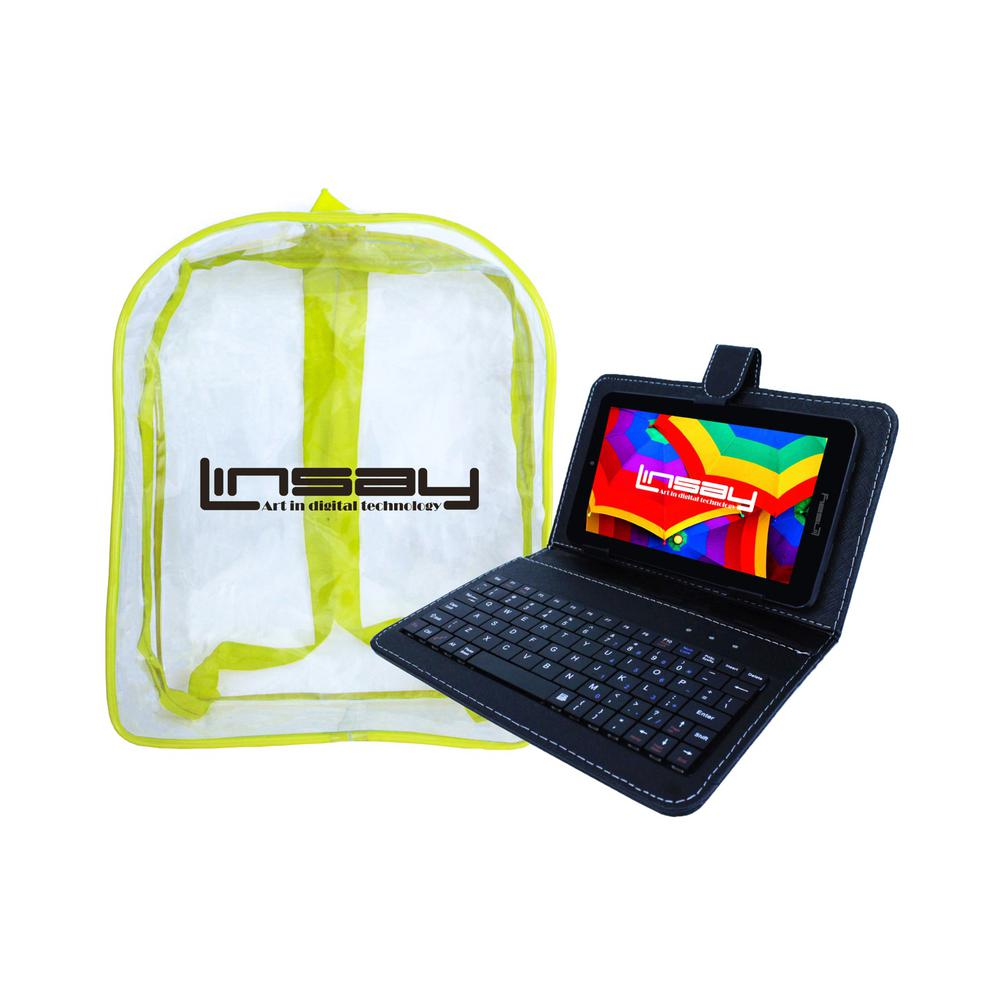 LINSAY 7 in. 2GB RAM 16GB Android 9.0 Pie Quad Core Tablet with Black Keyboard and Backpack was $149.99 now $69.99 (53.0% off)