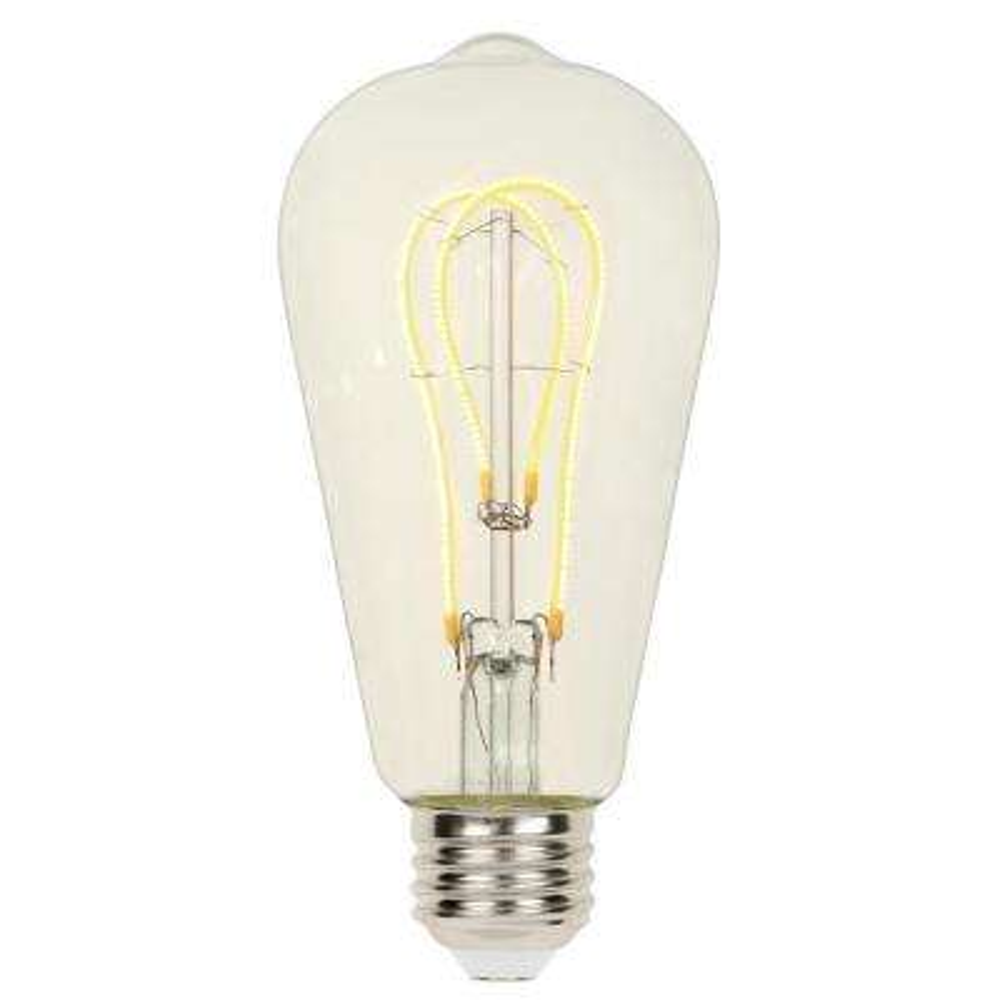 25-Watt Equivalent ST20 Dimmable 2700K Flexible Filament LED Light Bulb