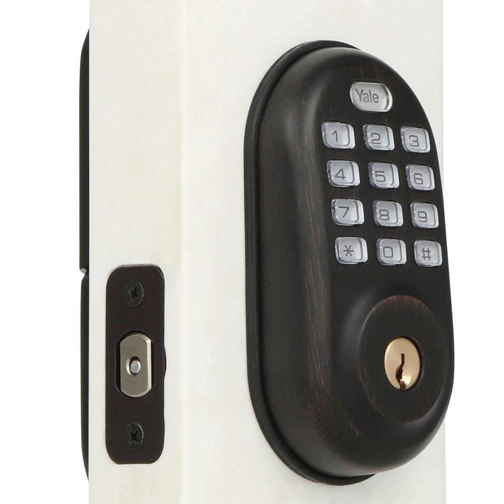 Yale Real Living Push Button Oil Rubbed Bronze Deadbolt