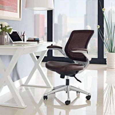 Edge Leather Office Chair in Brown