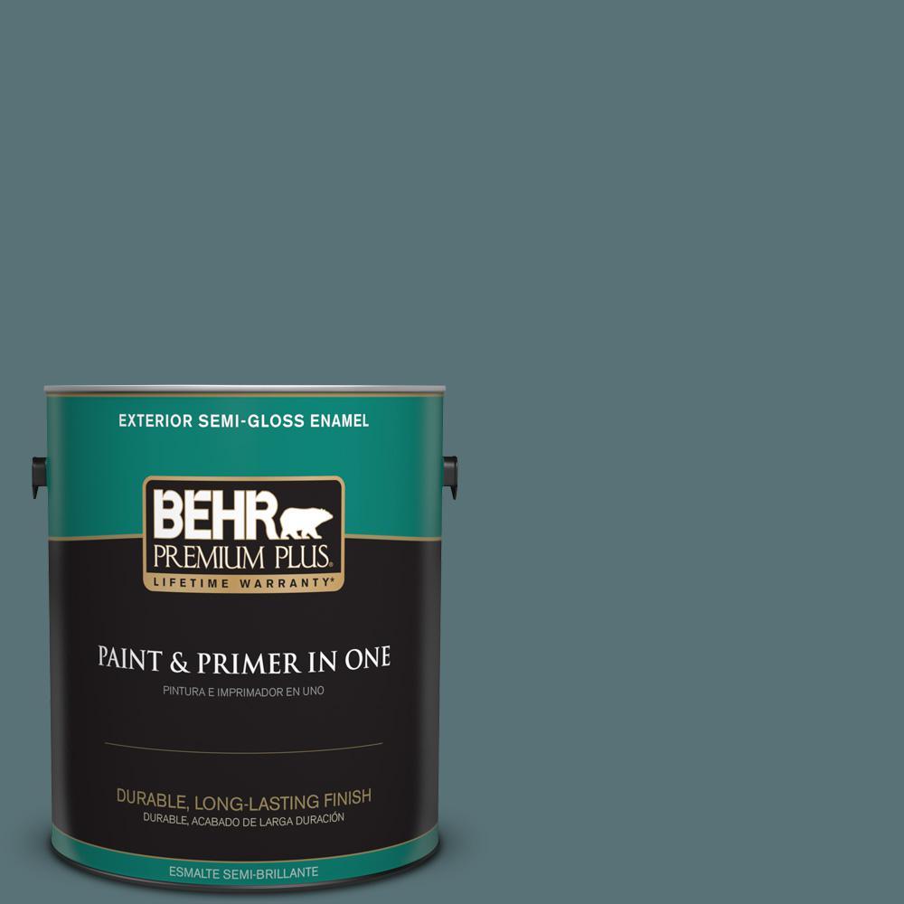 1 gal. #PPU13-02 Juniper Berries Semi-Gloss Enamel Exterior Paint