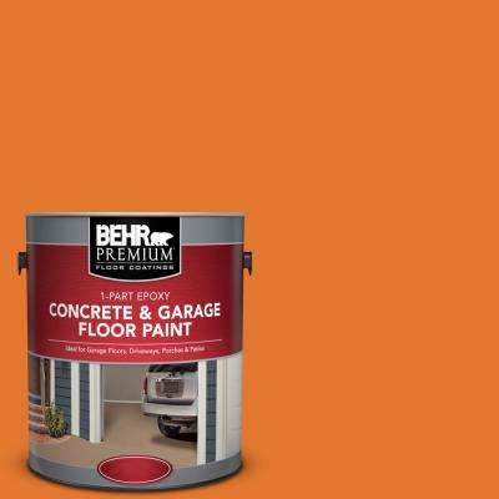1 gal. #OSHA-3 Osha Safety ORANGE 1-Part Epoxy Concrete and Garage Floor Paint