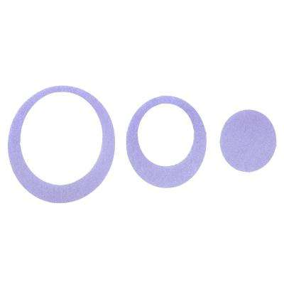 Adhesive Oval Treads in Purple (21-Count)