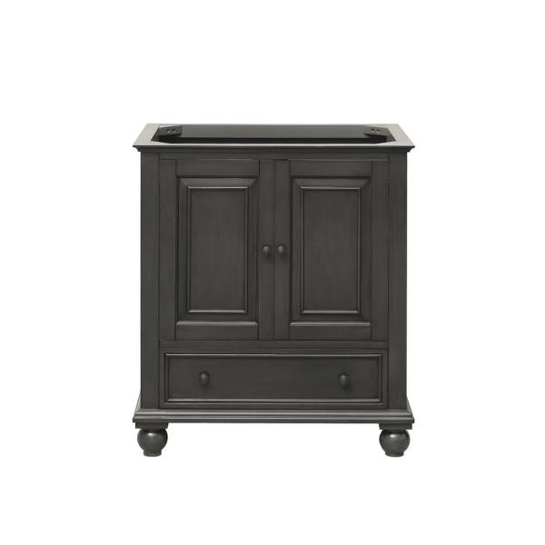 Thompson 30 in. W x 21 in. D x 34 in. H Bath Vanity Cabinet Only in Charcoal Glaze Finish