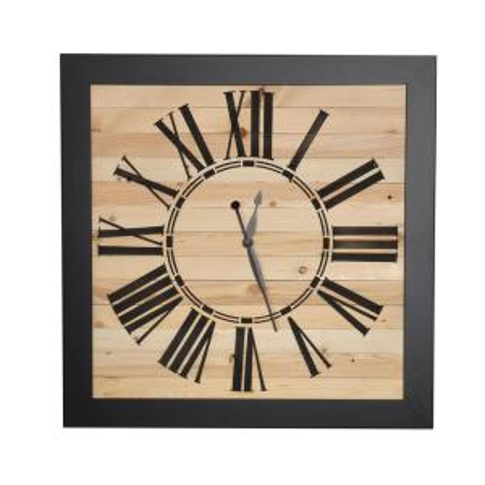 Brandtworks Modern Rustic Oversized Wall Clock 24sq00bkjup 2