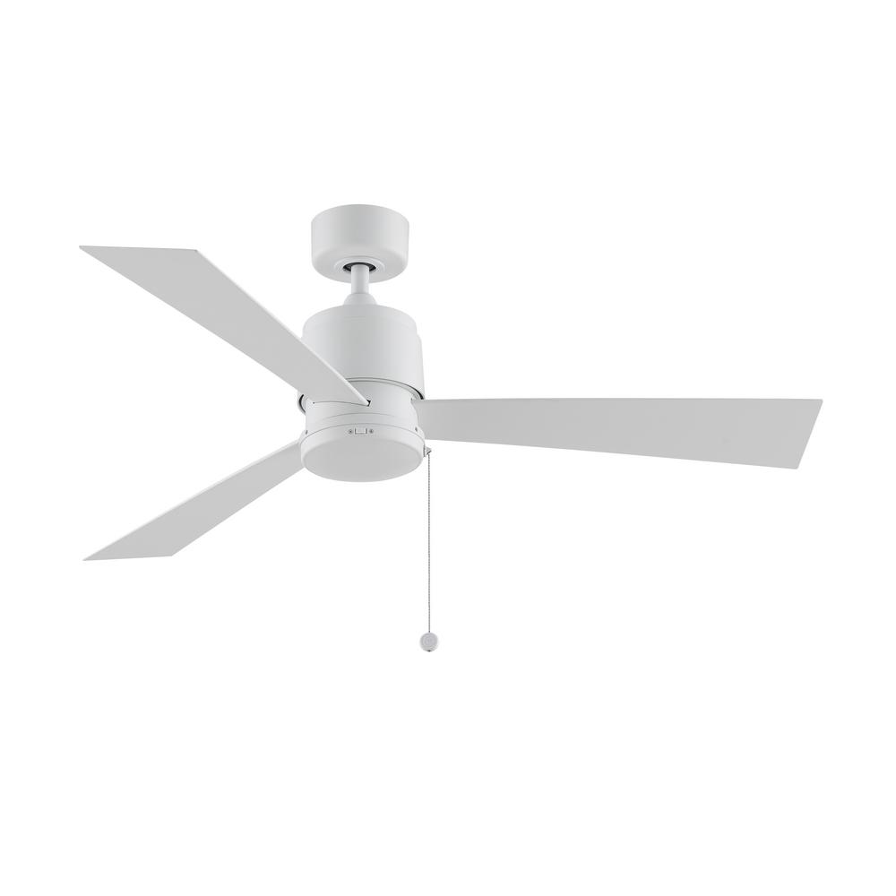 Zonix Wet 52 in. Indoor/Outdoor Matte White Ceiling Fan with Matte White Blades