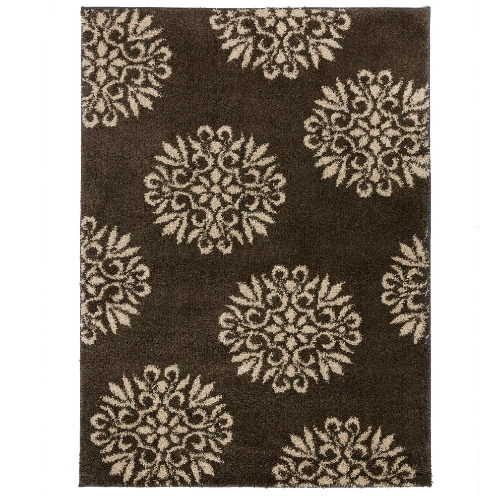 Mohawk Exploded Medallions Grey 5 Ft X 7 Ft Indoor Area Rug