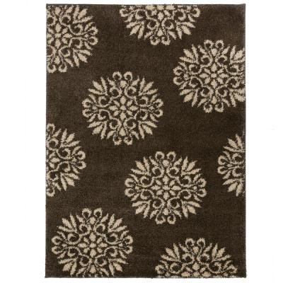 Mohawk Exploded Medallions Grey 5 ft. x 7 ft. Indoor Area Rug, Gray