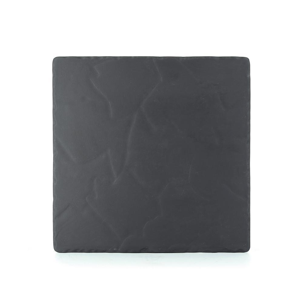 Revol  sc 1 st  The Home Depot & Revol Basalt Matte Slate Porcelain 11.75 in. Square Plate-641913 ...