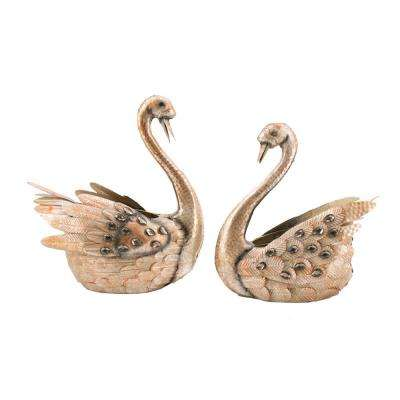Metallic Swan Planters (Set of 2)