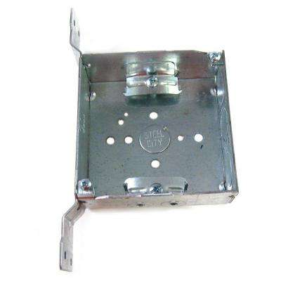 4 in. Steel Square Box with CV Bracket (Case of 25)
